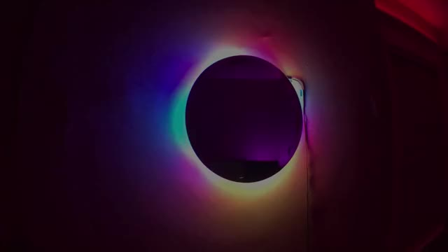 Hover Mirror Clock Rainbow Flow Pattern GIF by SwotPerderder