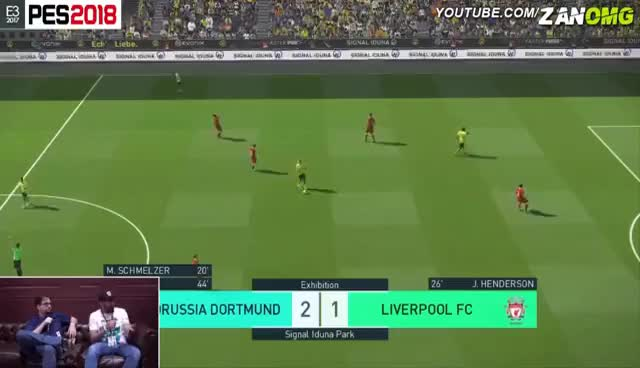 Watch and share PES 2018 | Liverpool Vs Borussia Dortmund | Full Match Gameplay (PS4/XBOX ONE/PC) HD GIFs on Gfycat