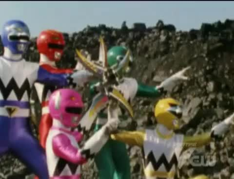 Watch and share Power Rangers Lost Galaxy - Transdaggers Star Formation GIFs on Gfycat