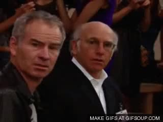 Watch and share John Mcenroe GIFs and Larry David GIFs on Gfycat