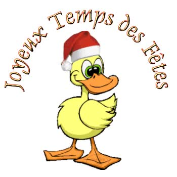 Watch and share Joyeux Temps Des Fêtes Canard Noël Gifs animated stickers on Gfycat