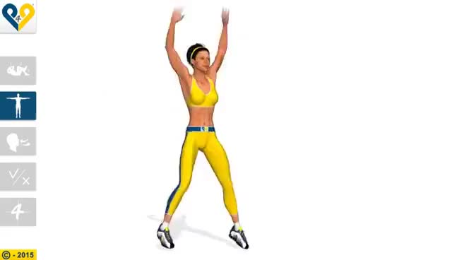 Watch and share Best Cardio Exercises: Jumping Jacks GIFs on Gfycat