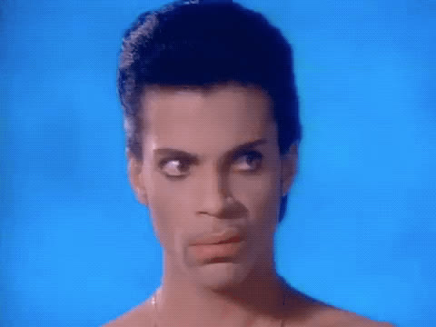 confused, kiss, music video, prince, scowl, what, wtf, Prince WTF GIFs