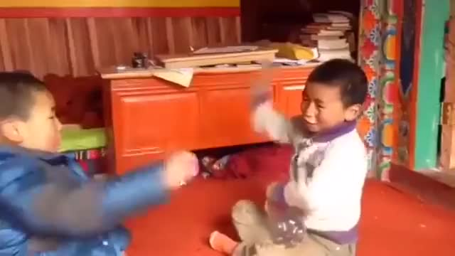 Watch and share Камень-ножницы-бумага. Two Tibetan Kids Playing An Extreme Game Of Rock Paper Scissors GIFs by meskal on Gfycat