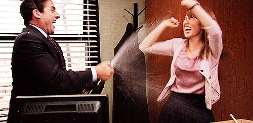 The Office Excited Celebration GIFs