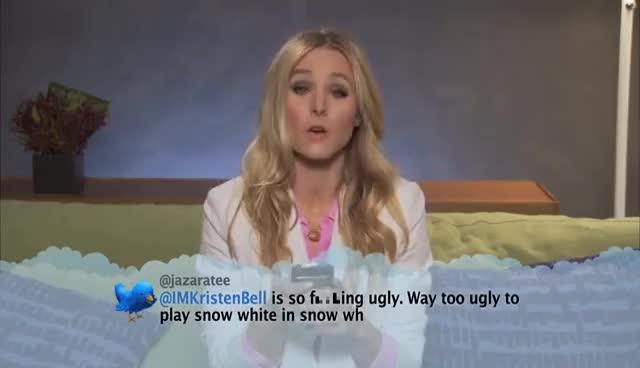 funny, jimmy kimmel, kristen bell, Kristen Bell GIFs