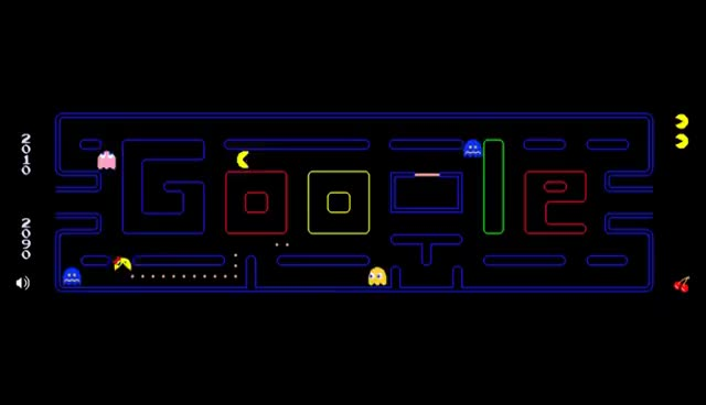 Watch and share Google Doodle Pac-Man And Ms. Pac-Man GIFs on Gfycat