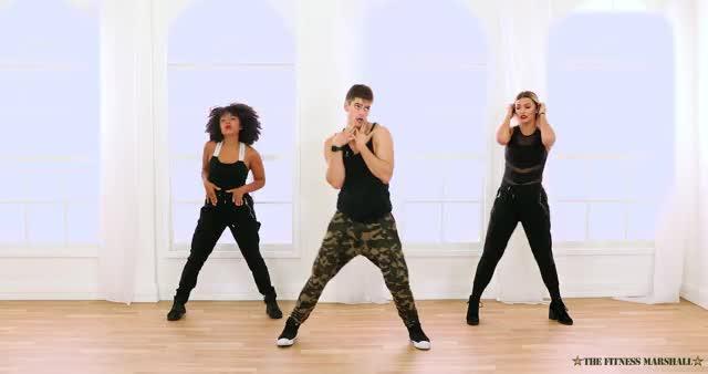 Watch DNA - BTS | Caleb Marshall | Cardio Concert GIF by Koreaboo (@koreaboo) on Gfycat. Discover more Zumba, caleb marshall, cardio hip hop, dance, exercise, fitness, fitness marshall, how to, the fitness marshall, tutorial GIFs on Gfycat