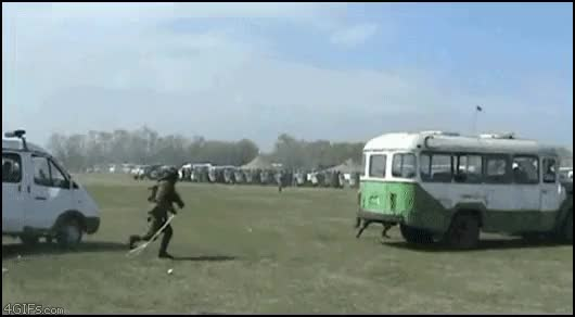 Watch and share Take That, Stupid Bus! (reddit) GIFs on Gfycat