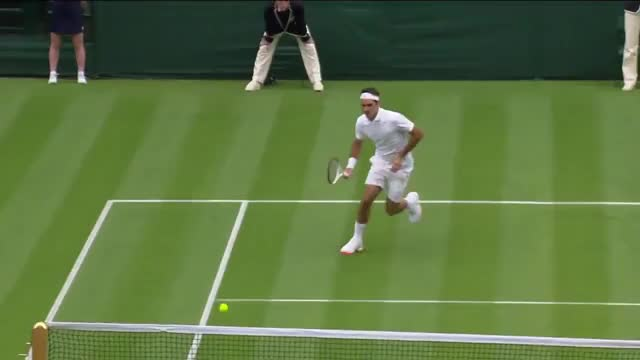 Watch Roger Federer's brilliant volley at Wimbledon 2013 GIF on Gfycat. Discover more tennis GIFs on Gfycat