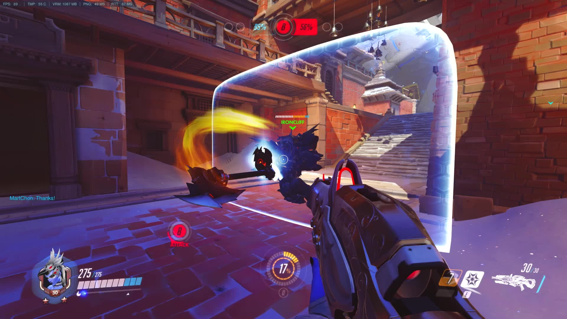 imagesofthe2000s, overwatch, Rein keeps swingin with his shield GIFs