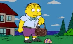 Watch and share Gif Ralph Wiggum Happy Easter GIFs on Gfycat