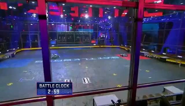 Blacksmith vs. Minotaur - BattleBots GIFs