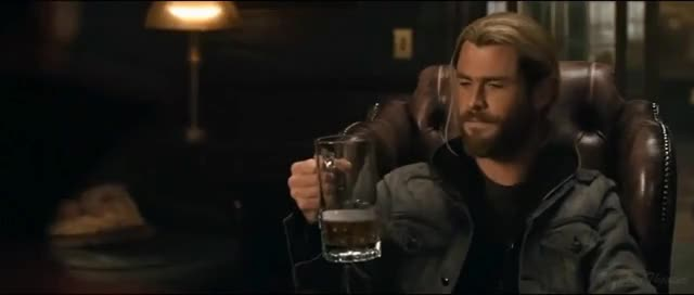 Watch this beer GIF on Gfycat. Discover more Marvel, avengers, beer, film, hd, marvel, movie, scene, thor ragnarok GIFs on Gfycat