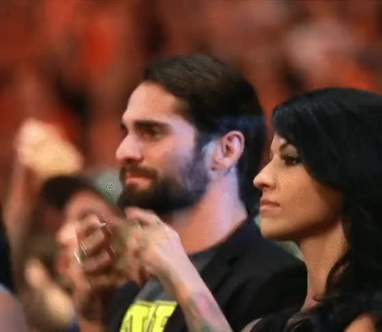 Watch Rollins getting emotional during Sasha/Bayley : SquaredCircle GIF on Gfycat. Discover more related GIFs on Gfycat