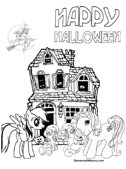 Watch and share Happy Halloween Pony GIFs by My Little Pony Coloring  on Gfycat
