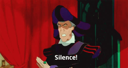 be quiet, hush, quiet, shhh, shush, shut up, silence, Silence! GIFs