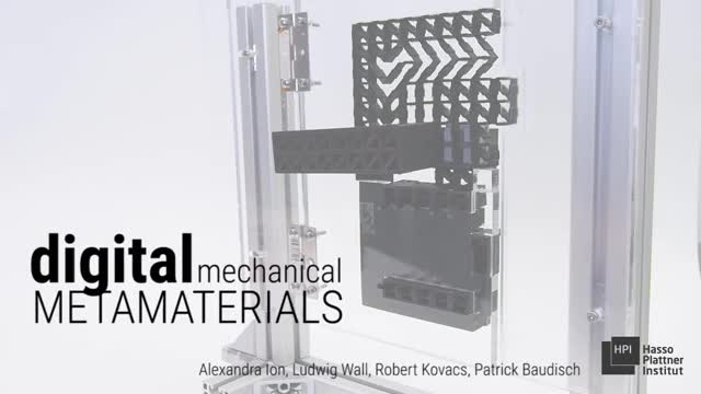 Watch Digital Mechanical Metamaterials (CHI 2017) GIF on Gfycat. Discover more 3d printing, HassoPlattnerInstitute HCI, Science & Technology, fabrication, mechanical computation, metamaterials, smart matter GIFs on Gfycat