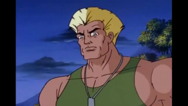 Watch and share Guile Stupid Stare GIFs on Gfycat