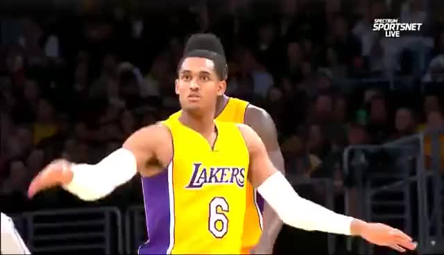 Watch and share January 3, 2017 - Grizzlies Vs. Lakers - Jordan Clarkson Three Pointer And Shimmy GIFs on Gfycat