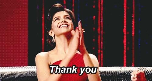 Deepika Padukone, blessing, oddlysatisfying, thankyou, thank you GIFs