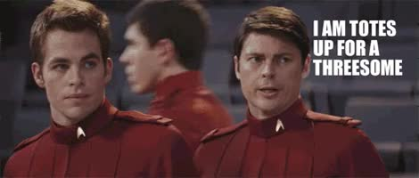 Watch and share Chris Pine GIFs and Karl Urban GIFs on Gfycat