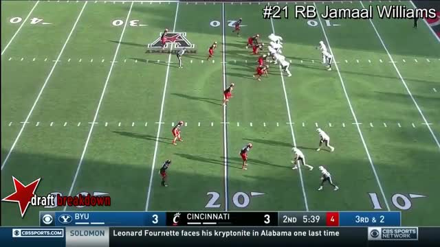Watch RB Jamaal Williams vs Cincinnati  2016 GIF on Gfycat. Discover more draftsharks, dynasty fantasy football, jamaal williams GIFs on Gfycat