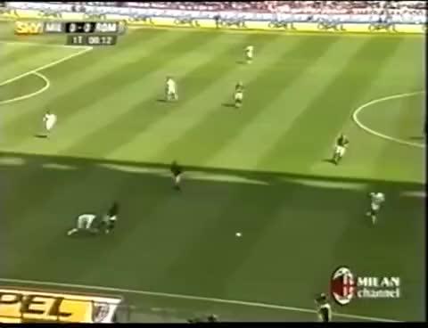 Watch and share Milan - Roma 1-0  ● Gol Shevchenko ● Pellegatti ● Milan Campione D'Italia 2003-04 GIFs on Gfycat