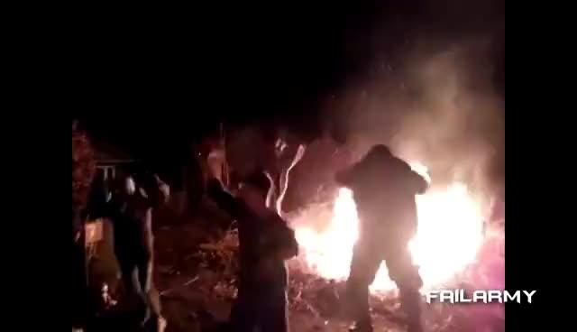 fire, Bonfire jumping time GIFs