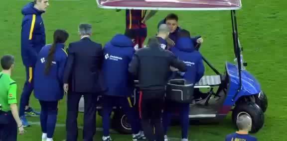 barca, sports, Javier Mascherano Emotional Moments after his injury Augusto Fernandez Vs Atletico Madrid GIFs