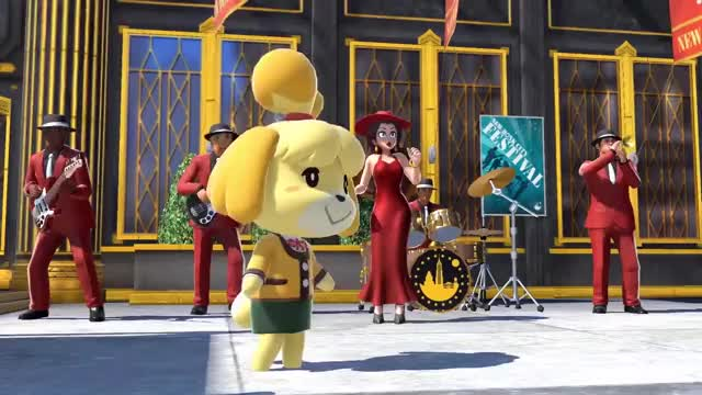 Watch this trending GIF by @wonkit on Gfycat. Discover more animal crossing, isabelle, nintendo, nintendo switch, reveal trailer, smash, smash bros, smash bros ultimate, smash ultimate, super smash bros ultimate GIFs on Gfycat
