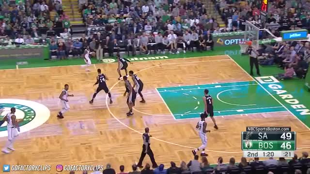 Watch Kyrie Irving & Jaylen Brown Full Highlights vs Spurs (2017.10.30) - 42 Pts, TOO SICK! GIF by Razzball (@razzball) on Gfycat. Discover more basketball, cavaliers, cleveland, golden state, nba, rockets, sports, thunder okc, warriors, world GIFs on Gfycat