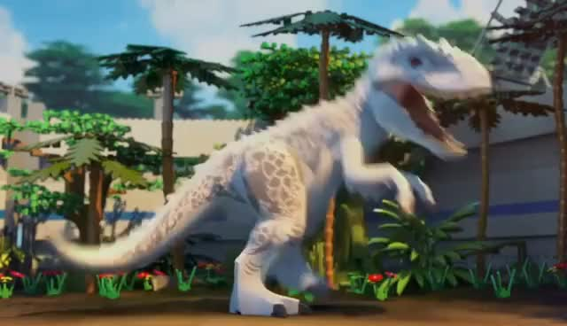 Watch and share LEGO® Jurassic World: The Indominus Escape GIFs on Gfycat
