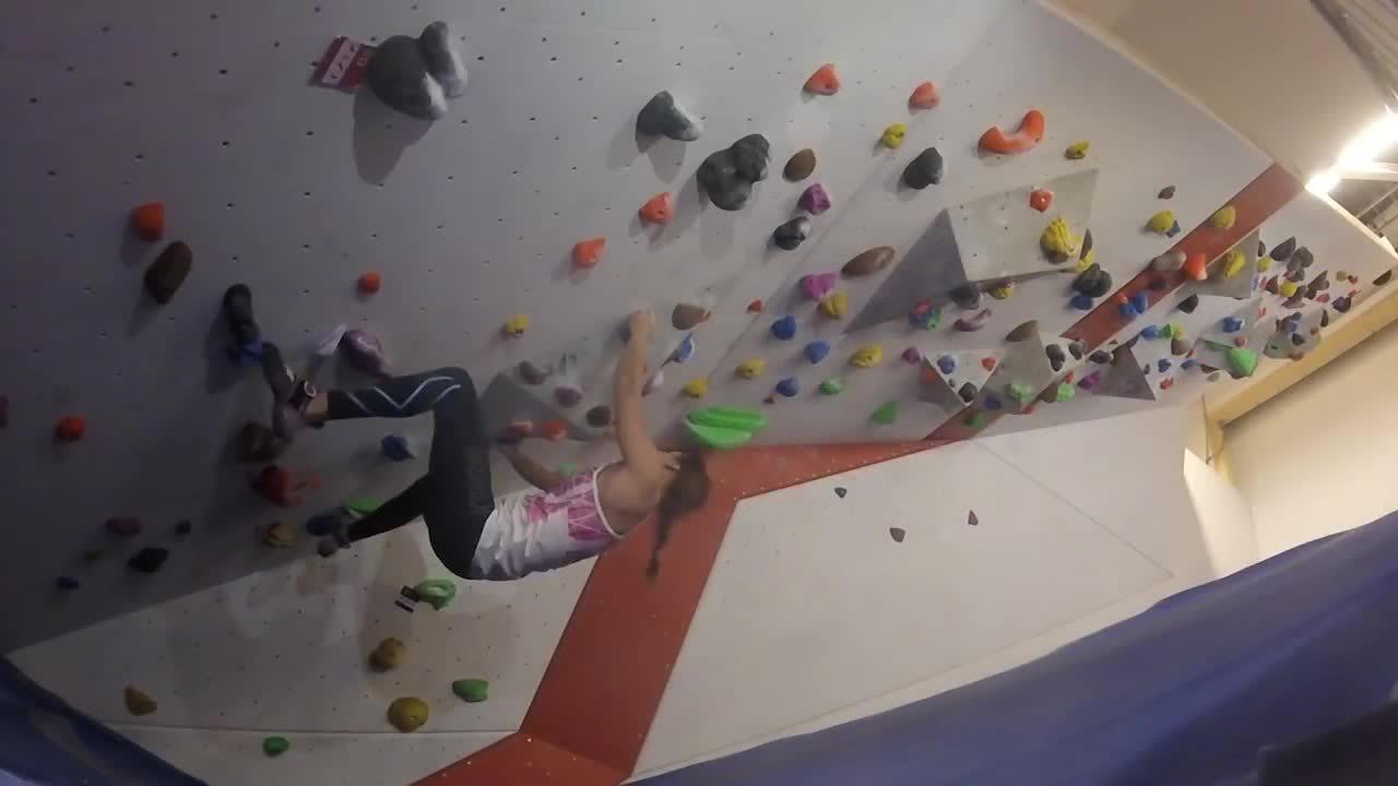 bouldering, climbing, strong woman, Swedish Ninja girl climbing GIFs