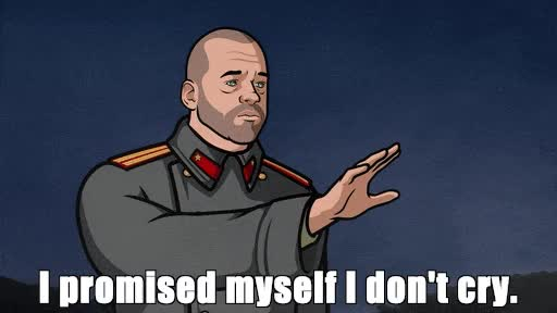 Watch and share Crying, Sad, Archer GIFs on Gfycat