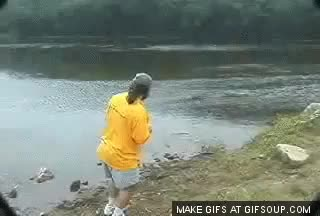 Watch and share Best Of The Guy Skipping A Rock Gif  | WeKnowMemes GIFs on Gfycat