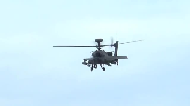 Watch 'Gunship Attack' - Apache Demo - Duxford VE Day Anniversary Airshow 2015 GIF on Gfycat. Discover more aircraft, airshow, aviation GIFs on Gfycat