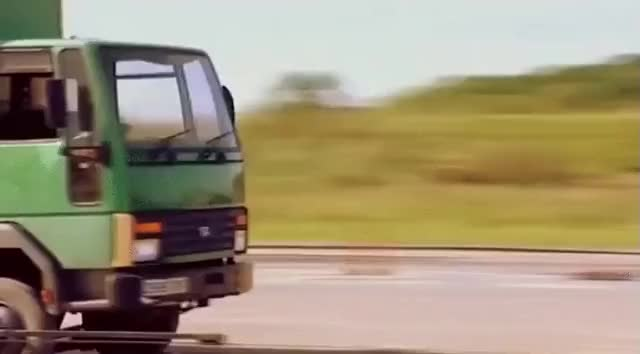 Watch and share This Truck Gets It Pretty Bad Too:  GIFs on Gfycat