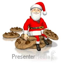 Watch and share Santa Sitting On Cookies Eating PowerPoint Animation GIFs on Gfycat