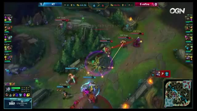 e-mFire vs KT Rolster | Game 2 S6 LCK Spring Round 1 Week 4 Day 1 | EMF vs KT G2 W4D1