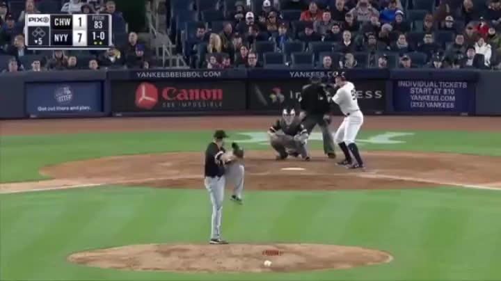baseballgifs, sports, Aaron Judge clobbers a 448-ft. home run GIFs