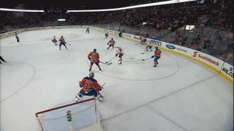 edmontonoilers, hockey, Michael Frolik (2) Deflected shot - ASST: Kris Russell (1), Josh Jooris (1) GIFs