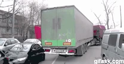 Watch and share Lucky Car Accident GIFs on Gfycat