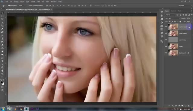 how to clean face in photoshop cc easy&fast in hindi GIF