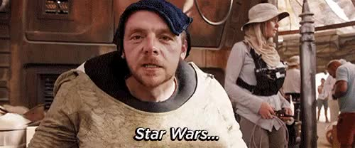 Watch this simon pegg GIF on Gfycat. Discover more behind the scenes, bts, comic-con, sdcc, simon pegg, star wars, the force awakens, yahoo movies GIFs on Gfycat