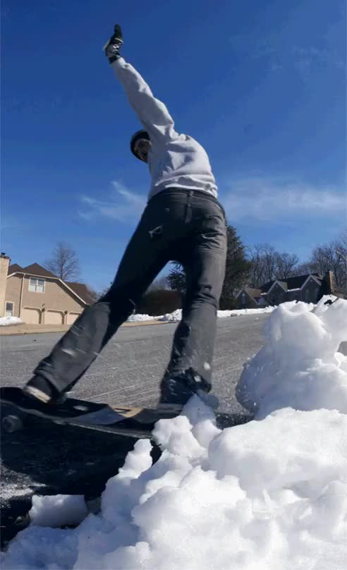 Watch and share Rich Nelson, Snow Bank Slash GIFs on Gfycat
