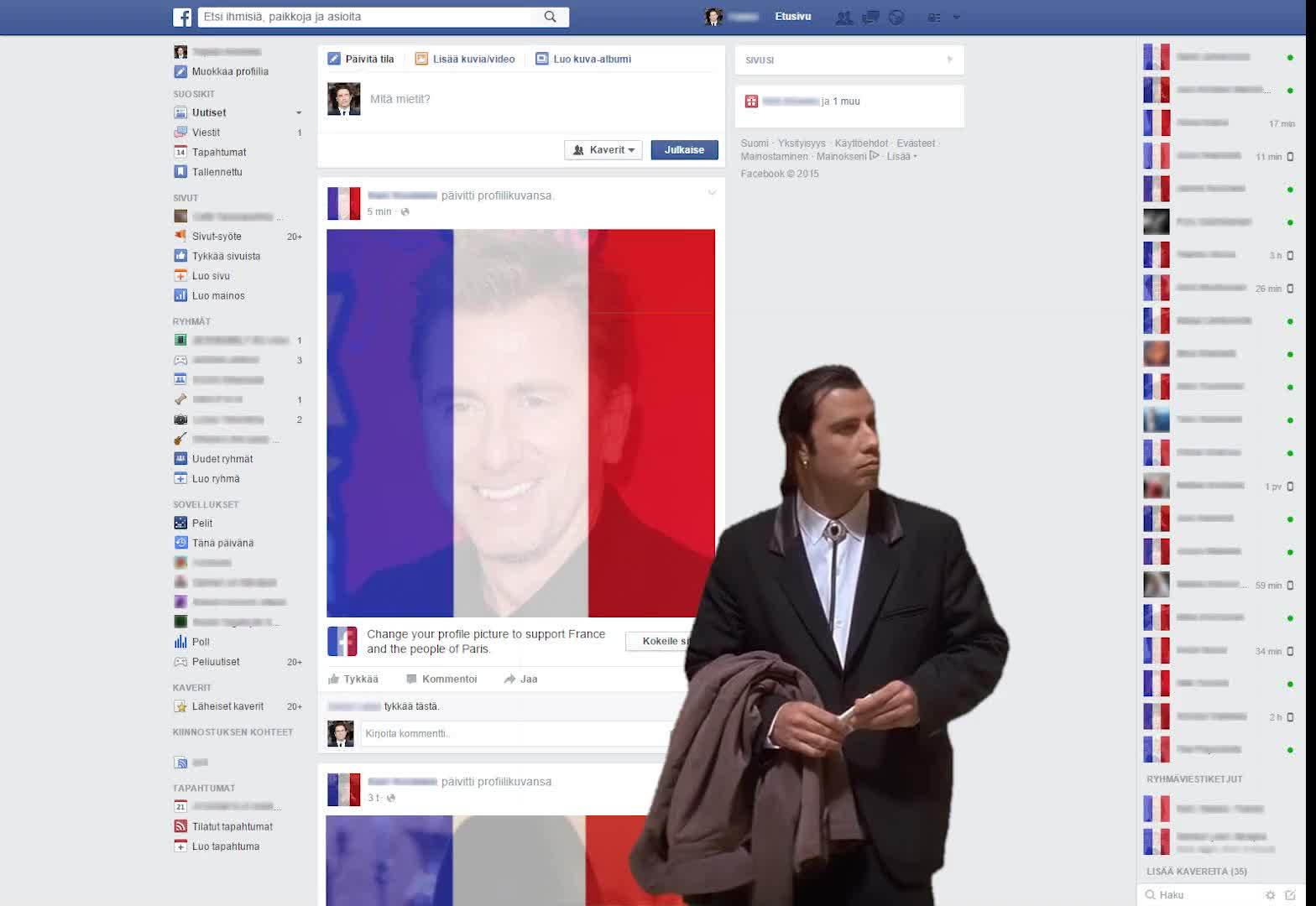 confusedtravolta, When I log in to Facebook after the terrors in Paris. GIFs