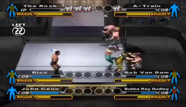 Watch and share WWE: Smackdown Vs Raw (PS2) Walkthrough - Royal Rumble GIFs on Gfycat