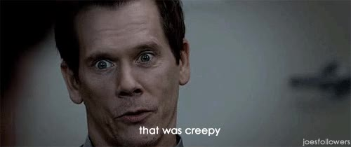 Watch and share Kevin Bacon GIFs and Creepy GIFs on Gfycat