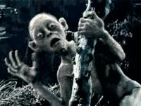 Watch and share Lord Of The Rings, Gollum, Scream, Screaming, Afraid GIFs on Gfycat